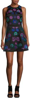 Cynthia Rowley Women's Embroidered Floral A-Line Dress