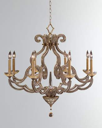 John-Richard Collection Beaded Elegance 8-Light Scroll Chandelier