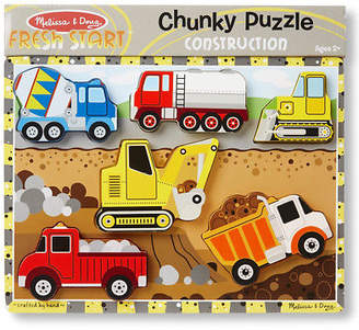 Melissa & Doug NEW Construction Chunky Puzzle 6pce