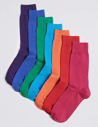 "Marks and Spencer 7 Pack Cool & Freshfeetâ""¢ Cotton Rich Socks"