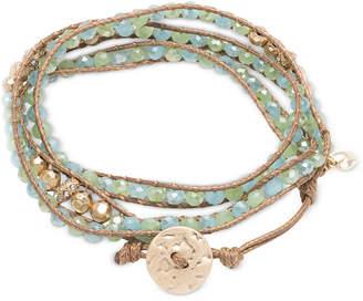 lonna & lilly Glass Bead Wrap-Style Bracelet $28 thestylecure.com