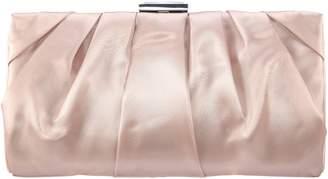 Nina Crystal Clasp Pleated Clutch