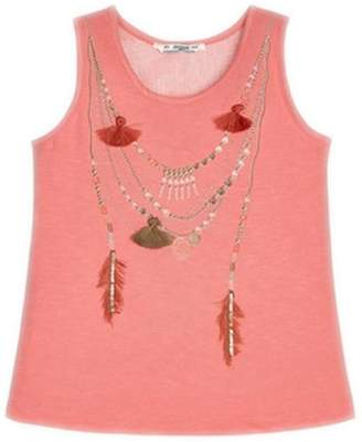 Mayoral Peach Necklace T-Shirt