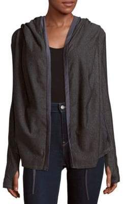 Hooded Open-Front Jacket