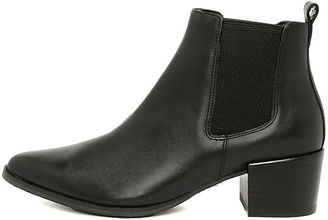 Steve Madden Vanity Black Leather Pointed Ankle Booties $109 thestylecure.com