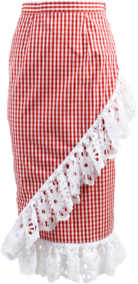 Anouki Plaid Ruffled Skirt