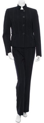 Akris Punto Pinstriped Wool Pantsuit $125 thestylecure.com