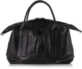Joanna Maxham Cast Away Distressed Black Leather Satchel