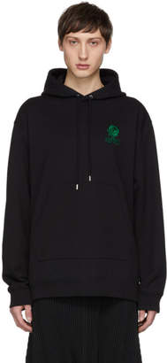 Kenzo Black Embroidered Logo Hoodie