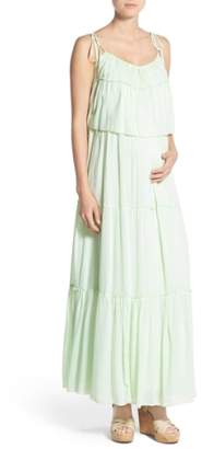 Fillyboo 'Songbird' Popover Maternity/Nursing Maxi Dress