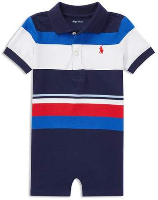 Ralph Lauren Boys' Jersey Striped Polo Shortall - Baby