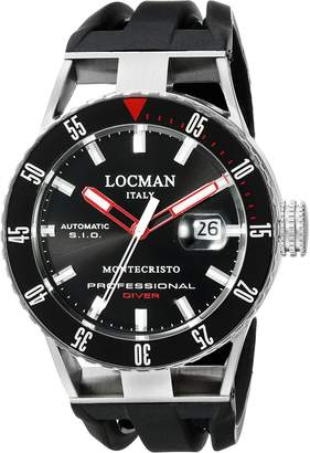 Locman Italy Men's 051300KRBKNKSIK Montecristo Professional Divers Automatic Analog Display Automatic Self Wind Watch