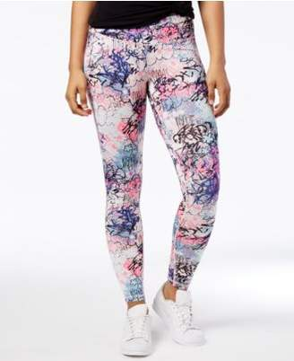 Material Girl Active Juniors' Graffiti-Print Leggings, Created for Macy's