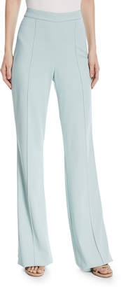 Alice + Olivia Jalisa High-Waist Fitted Flared Lined Pants