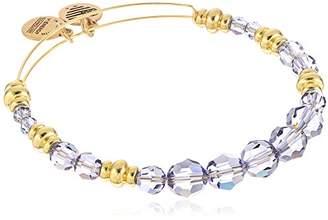 Alex and Ani Swarovski Beaded Royal Expandable Wire Gold Bangle Bracelet