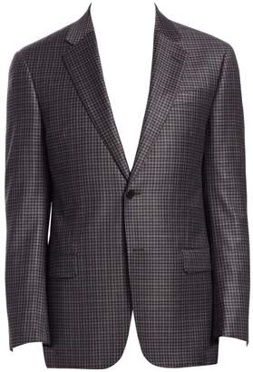 Emporio Armani G-Line Mini Check-Print Wool Suit Jacket