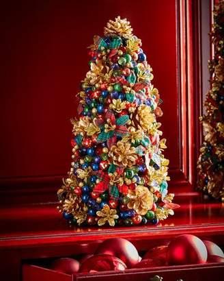 "Salzburg Creations Tartan Cheer Tabletop Christmas Tree, 12"""