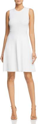 MICHAEL Michael Kors Ribbed Fit-and-Flare Sweater Dress