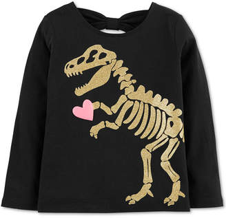 Carter's Baby Girls Dino-Print Cotton T-Shirt