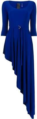 Norma Kamali asymmetric scoop-neck dress