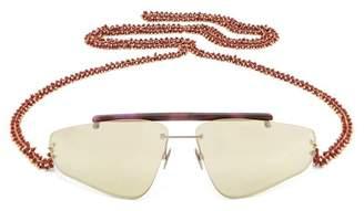Acne Studios Ylari Angular Acetate Sunglasses - Womens - Purple Multi
