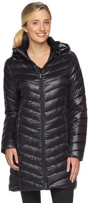 Women's Tek Gear® Hooded Long Puffer Jacket $160 thestylecure.com
