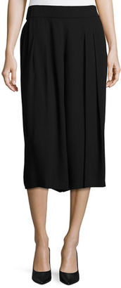 Eileen Fisher Pleated Silk Georgette Cropped Pants $268 thestylecure.com