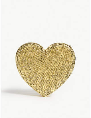 Judith Leiber Exclusive crystal heart clutch