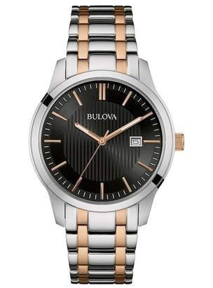 Bulova Men's Two-Tone Analog Quartz Bracelet Watch, 40mm