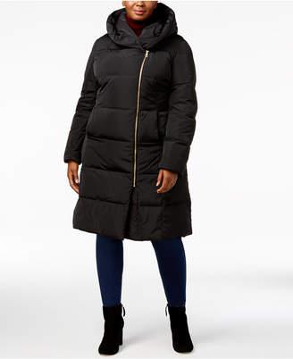 Cole Haan Plus Size Pillow-Collar Heavyweight Puffer Coat