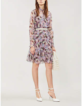 Erdem Danielle floral-print silk mini dress