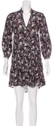 Veronica Beard Floral Print Silk Dress