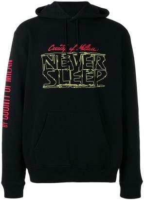 Marcelo Burlon County of Milan Never Sleep hoodie