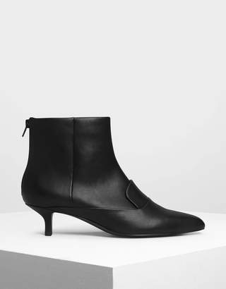 Charles & Keith Loafer Detail Ankle Boots