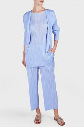 Pleats Please Issey Miyake Monthly Colors Long Sleeve Cardigan