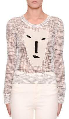 Missoni Long-Sleeve Crochet Face Intarsia Sweater