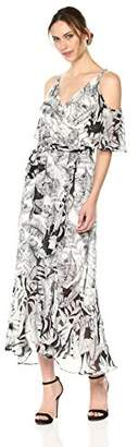 Sangria Women's Cold Shoulder Maxi Dress
