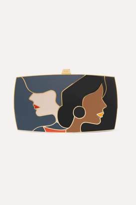 13BC - The First Encounter Gold-tone And Enamel Clutch