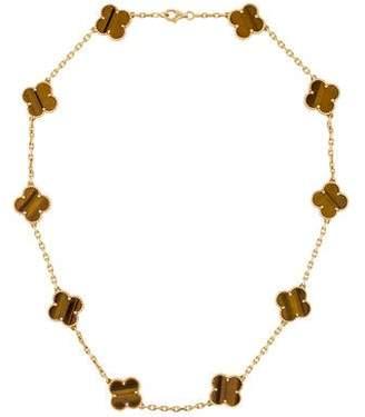 Van Cleef & Arpels Vintage Alhambra 10 Motif Necklace