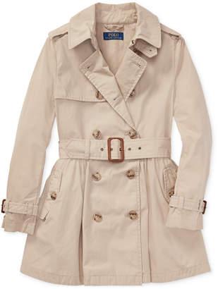 Polo Ralph Lauren Big Girls Cotton Trench Coat
