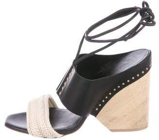 Thakoon Studded Leather Wedges