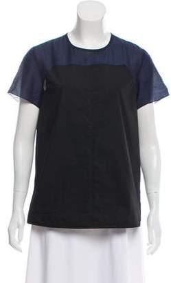 Proenza Schouler Short Sleeve Colorblock Top