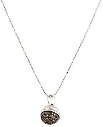 14K Diamond Ball Pendant Necklace