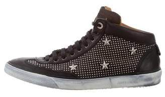 Jimmy Choo Leather Studded Sneakers