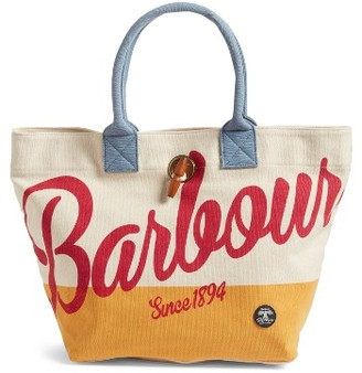 Barbour Single Shopper Tote - Red $99 thestylecure.com