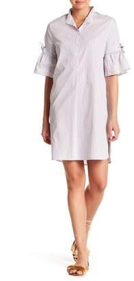 Max Studio Striped Bell sleeve Shirtdess