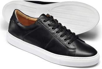 Charles Tyrwhitt Black Leather Sneakers Size 9.5