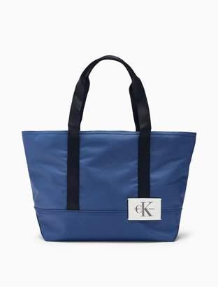 Calvin Klein monogram logo carry-all tote bag