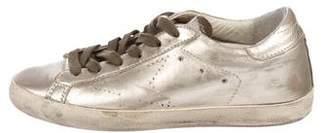 Golden Goose Distressed Metallic Sneakers
