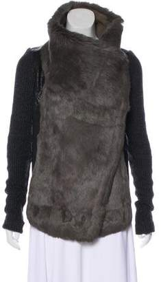 Helmut Lang Fur Turtleneck Jacket
